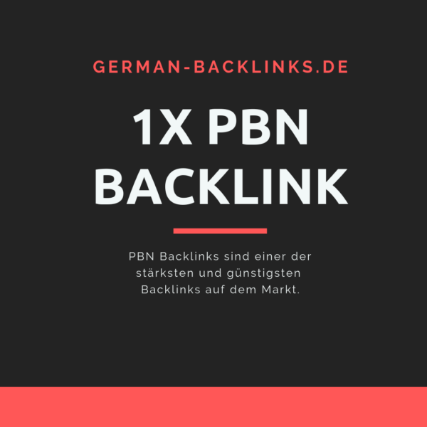 1x PBN Backlink