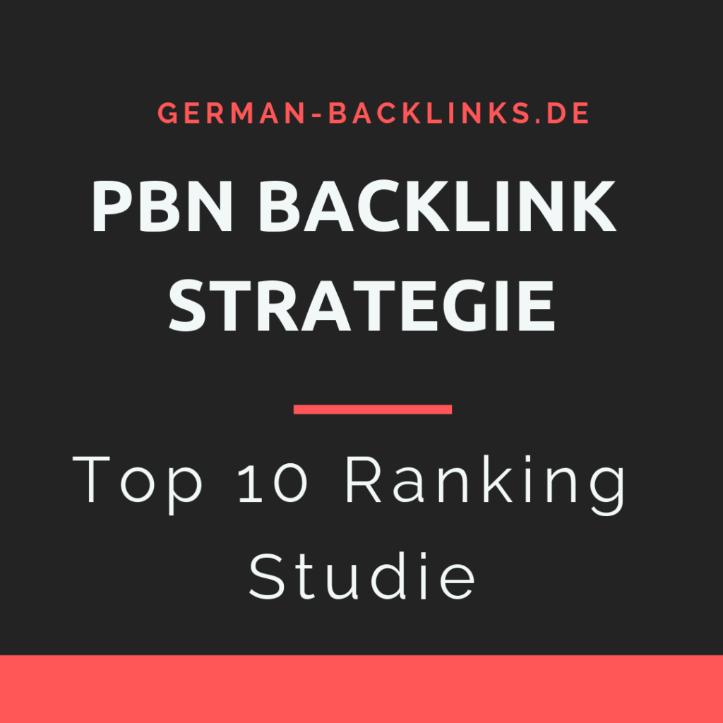 PBN Backlink Ranking Strategie