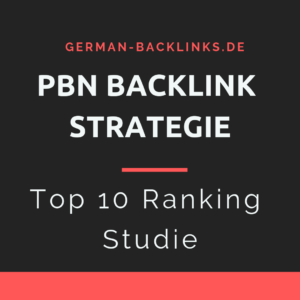 PBN Backlink Ranking Strategie