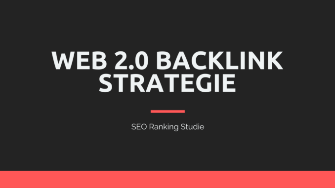 Web 2.0 SEO Strategie