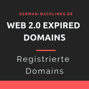 Web 2.0 expired Domains kaufen